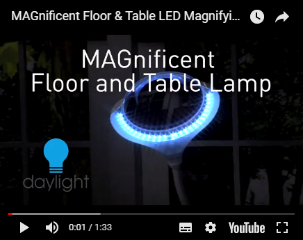Magnifying Flooramp; Led Daylight Table E25050 Lamp Magnificent clJF1TK